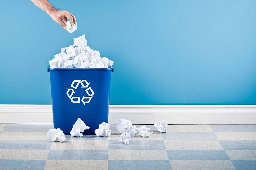 Waste paper recycling industry
